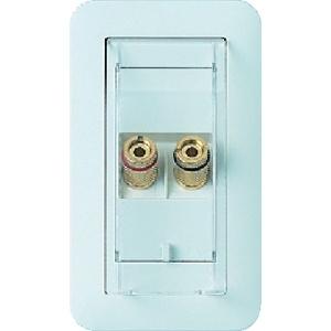 埋込スピーカーターミナル 1対用 金属取付枠付 ホワイト WTN4101W