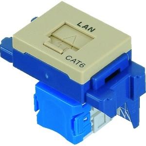 パナソニック 埋込型情報モジュラジャック CAT6 「LAN」表示付 利休色 NR3170G