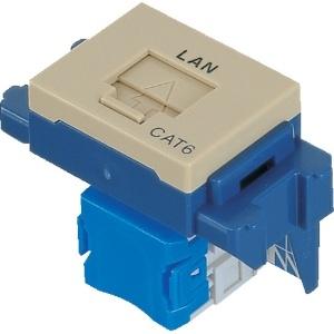 パナソニック 埋込型情報モジュラジャック CAT5E 「LAN」表示付 利休色 NR3160G