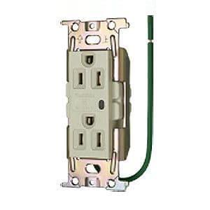 明工社 ML医用接地埋込ダブルコンセント C形 Sタイプ 通電表示ランプ付 15A 125V 白 ML1272T4W