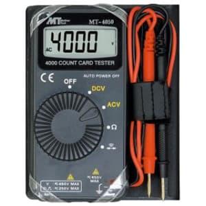マザーツール カード型マルチメータ 直流・交流電圧/抵抗/導通試験 MT-4050