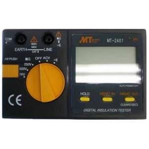マザーツール デジタル絶縁抵抗計 定格測定電圧:250V・500V・1000V メモリ・データホールド機能付 MT-2401