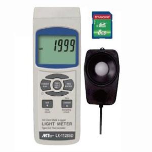 デジタル照度計 SDスロット搭載 データロガ機能付 測定範囲0〜100000Lux LX-1128SD