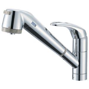 シングル浄水器付ワンホールスプレー混合栓 節水水栓 キッチン用 浄水カートリッジ内蔵タイプ ホース引出し機能付 modello K87680TJV