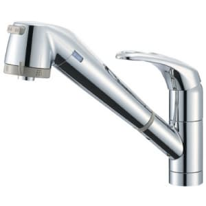 シングル浄水器付ワンホールスプレー混合栓 節水水栓 キッチン用 浄水カートリッジ内蔵タイプ ホース引出し機能付 modello K87680JV
