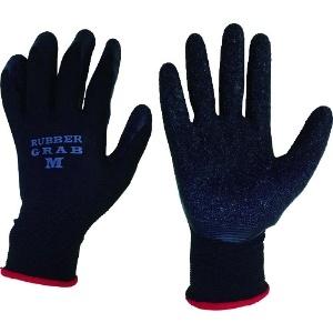 ラバーグラブ 背ヌキ加工 薄手タイプ 5双組 サイズ:M 黒 #670M