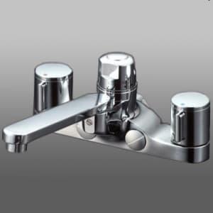 デッキ形定量止水付2ハンドル混合栓 寒冷地用 取付ピッチ200mm 寒冷地用 《KM296お湯ぴたシリーズ》 KM296ZGT