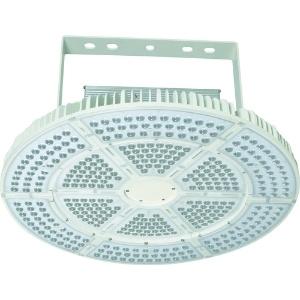 高天井用LED器具 エースディスク500W アーム式(吊下げ型) 水銀灯1000W相当 昼白色 直流電源装置一体型 超スポットタイプ 照射角30° L500W-P-AVS-50K