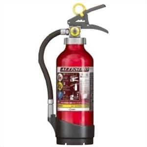 アルミ製蓄圧式粉末ABC消火器 《アルテシモ》 業務用 4型 総質量約2.0kg リサイクルシール付 MEA4リサイクルシールツキ