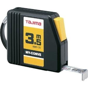 タジマ コンベックス マイコンベ スチールテープ 長さ3.5m メートル目盛 ストップタイプ NMY-35BL
