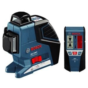 BOSCH 【生産完了品】レーザー墨出し器 水平4ライン・垂直4ライン・鉛直・地墨 受光器・キャリングケース付 GLL3-80PLR