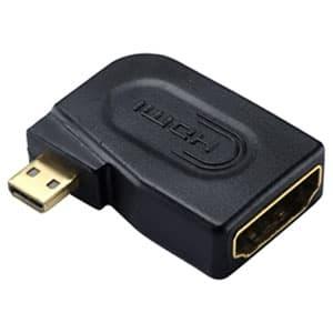 サンワサプライ HDMI変換アダプタ L字型アダプタ HDMIマイクロオス-HDMIメス AD-HD10LMC