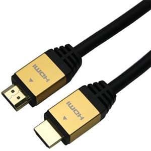 ホーリック ハイスピードHDMIケーブル イーサネットチャンネル(HEC)対応 長さ5.0m ゴールド HDM50-014GD