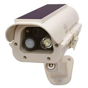 キャロットシステムズ ソーラー式LEDダミーカメラ 壁面用 IP44相当 SLD-110