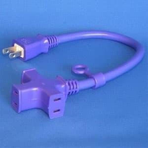 正和電工 トライアングルマルチタップ延長コード 3個口 0.3m 紺 VCTM-03VI