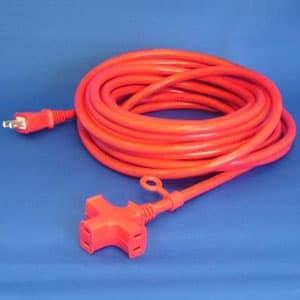 正和電工 トライアングルマルチタップ延長コード 3個口 10m 赤 VCTM-10RE