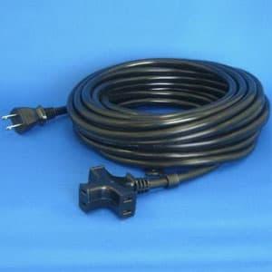 正和電工 トライアングルマルチタップ延長コード 3個口 10m 黒 VCTM-10BK