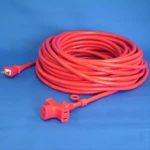 正和電工 トライアングルマルチタップ延長コード 3個口 20m 赤 VCTM-20RE