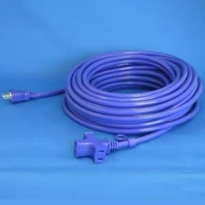 正和電工 トライアングルマルチタップ延長コード 3個口 20m 紺 VCTM-20VI