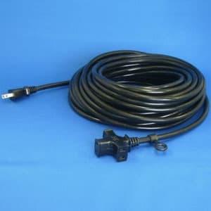 正和電工 トライアングルマルチタップ延長コード 3個口 20m 黒 VCTM-20BK