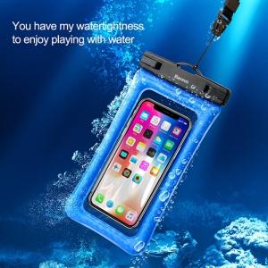 電材堂 【生産完了品】エアークッション防水ケース スマートフォン用 最大6インチ ブラック DACFSDA01