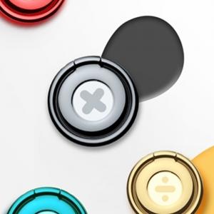 電材堂 スマートフォンリング 落下防止 ブラック DSUPMD01