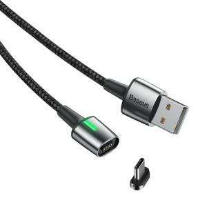 電材堂 【生産完了品】マグネットケーブル USB〜Type-C 長さ2m ブラック DCATXCB01