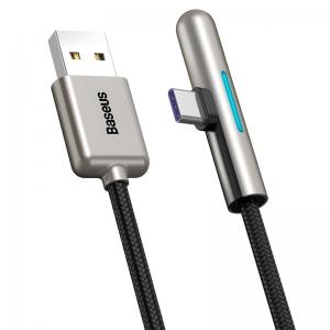 電材堂 USBケーブル USB〜Type-C 長さ0.5m ブラック DCAT7CA01