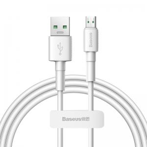 電材堂 USBケーブル USB〜MicroUSB 長さ1m ホワイト DCAMSWD02