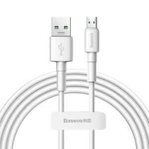 電材堂 USBケーブル USB〜MicroUSB 長さ2m ホワイト DCAMSWE02