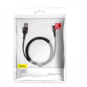 電材堂 USBケーブル 急速充電タイプ USB〜MicroUSB 長さ1m ブラック DCAMGHB01