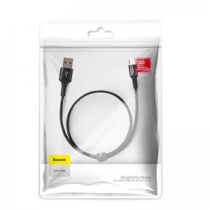 電材堂 【生産完了品】USBケーブル 急速充電タイプ USB〜MicroUSB 長さ0.25m ブラック DCAMGHD01