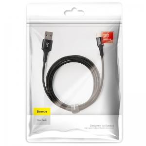 電材堂 USBケーブル 急速充電タイプ USB〜Type-C 長さ2m ブラック DCATGHC01
