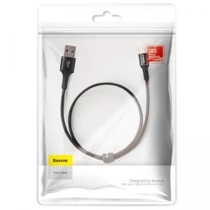 電材堂 【生産完了品】USBケーブル 急速充電タイプ USB〜Type-C 長さ0.25m ブラック DCATGHD01