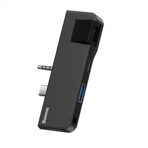 電材堂 USBハブアダプター USB〜Surface Go ブラック DCAHUBFG01
