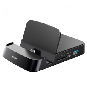 電材堂 USBドッキングステーションアダプター Type-C用 ブラック DCAHUBAT01