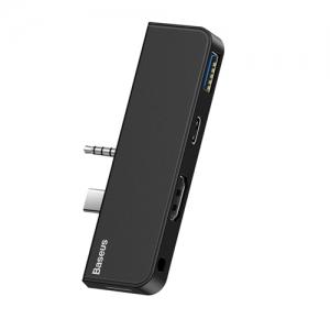 電材堂 USBハブアダプター USB〜Surface Go ブラック DCAHUBFT01