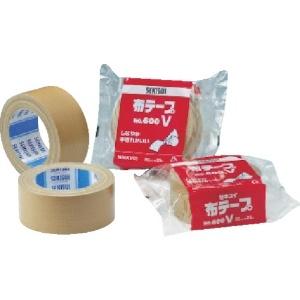 積水化学工業 布テープ No.600V 幅50mm×長さ25m ブラウン N60XV03