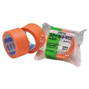 積水化学工業 【生産完了品】養生用テープ スマートカットテープNo.833 みかん 幅38mm×長さ50m オレンジ色 N833D12