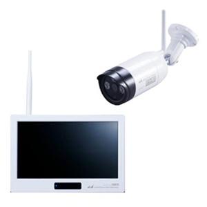 日本アンテナ FHDワイヤレスカメラ&モニターセット 《ドコでもeye Security》 加圧式 10.1インチモニタ スマートフォン・タブレット対応 録画機能付 SC05ST