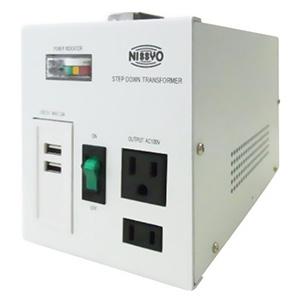 降圧変圧器 《ダウントランス SPXシリーズ》 AC110〜127V 出力容量800W USBポート2個付 SPX-800U