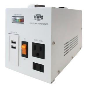 降圧変圧器 《ダウントランス SPXシリーズ》 AC220〜240V 出力容量800W USBポート2個付 SPX-800