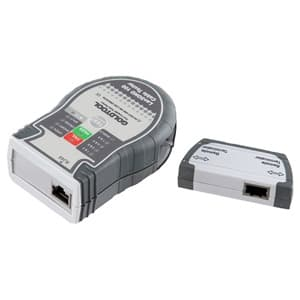 サンワサプライ LANケーブルテスター 電池残量警告LED搭載 ベルト固定用クリップ付 LAN-TCT100