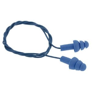 耳栓 E-A-Rウルトラフィット 鉄球入 金属探知機反応タイプ サイズフリー NRR値25dB ひも付(620mm) 340-4007