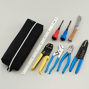 ホーザン 【生産完了品】電気工事士技能試験工具セット 基本工具+VVFストリッパー DK-18