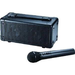 【数量限定特価】ワイヤレスマイク付拡声器スピーカー アンプ一体型 電池駆動・ACアダプタ両対応 MM-SPAMP4