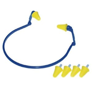 耳栓 イヤーフレックス イヤーバンドタイプ 交換用プラグ2組付属 フリーサイズ 350-1001
