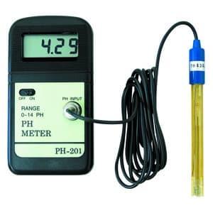 マザーツール デジタルPHメータ ガラス電極式 pH07基準液50ml付属 PH-201