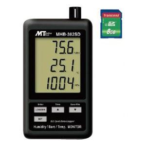 デジタル温湿度・気圧計 SDスロット搭載 データロガ機能付 温度・湿度・気圧同時表示 MHB-382SD