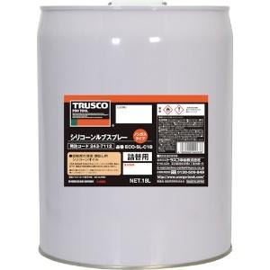 αシリコーンルブ詰替用 缶タイプ 滑走・艶出し剤 ノンガスタイプ 透明 内容量18L ECO-SL-C18